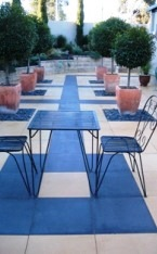 Clear concrete floor paving paint